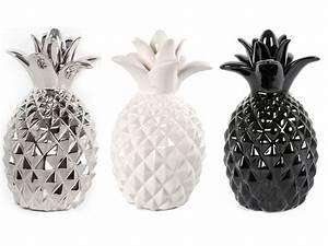 Objet Deco Ananas : statuette ananas teo coloris 3 coloris au choix argent blanc ou noir vente de autre objet de ~ Teatrodelosmanantiales.com Idées de Décoration