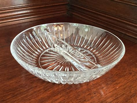glass divided serving dish