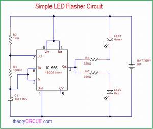 Simple Led Flasher Circuit