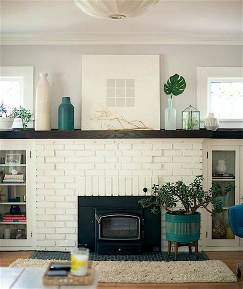 painted white brick fireplace my husband our brick fireplace laurel home