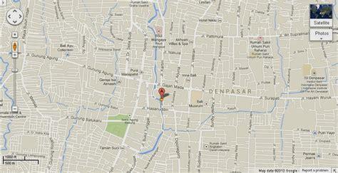 detail jalan sulawesi denpasar bali location map bali
