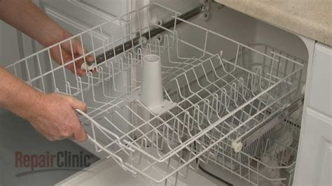 ge dishwasher upper dish rack assembly replacement wdx youtube