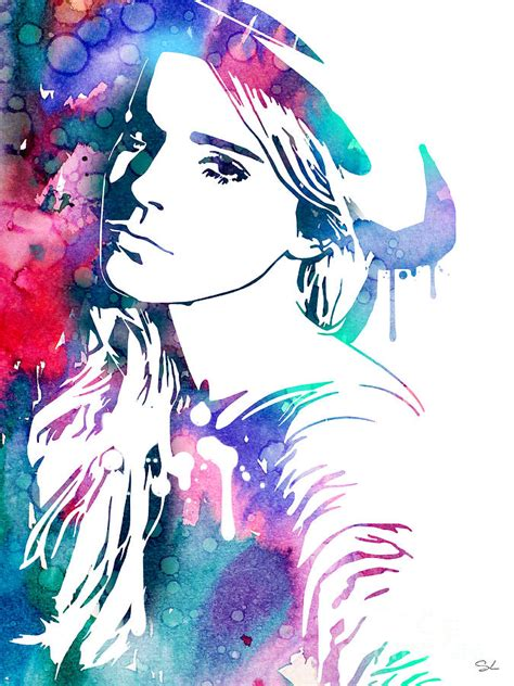 Emma Watson Painting Watercolor Girl