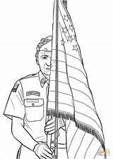 Coloring Guard Honor Pages Drawing Printable sketch template