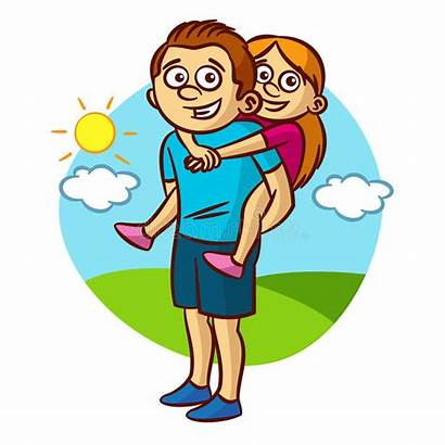 Dad Daughter Clipart Walking Daddy Father Cliparts