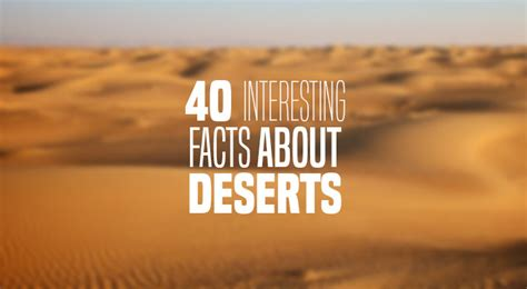 interesting facts   desert   continents