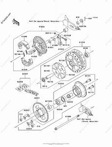 Kawasaki Motorcycle 2010 Oem Parts Diagram For Rear Hub