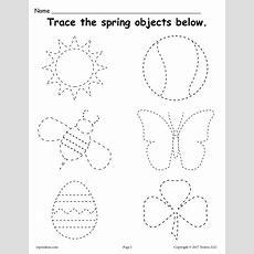 Free Printable Spring Themed Tracing Worksheet  Preschool  Tracing Worksheets, Preschool
