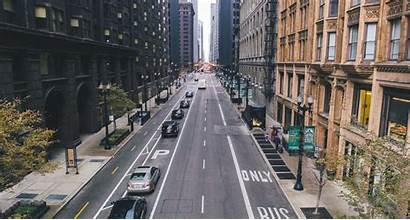 Chicago Street Road Traffic Urban Wallpapers Area
