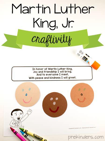 martin luther king craftivity mlk prekinders 472 | martin luther king activity