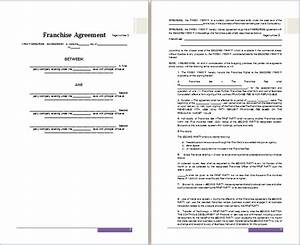 ms word franchise agreement template free agreement With franchise documents templates