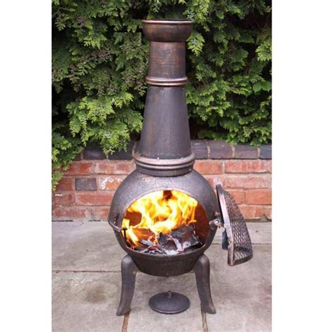 Large Cast Iron Chiminea Sale - clay chimineas sale fast delivery greenfingers
