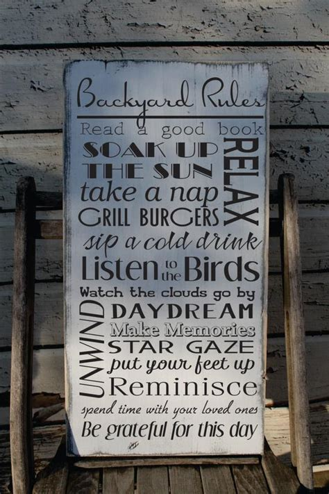 Custom Backyard Signs by Backyard Custom Sign Distressed And Aged For The