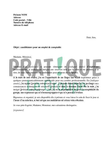 lettre de motivation gratuit pour un emploi employment application