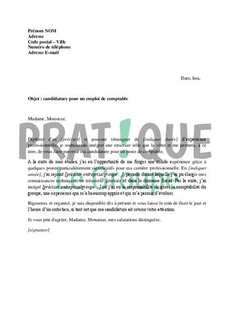 lettre de motivation de cuisine lettre de motivation pour un emploi de comptable pratique fr