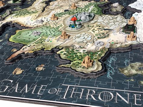 Game Of Thrones Puzzle Artwork By Dury