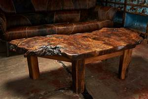 This coffee table made from burled oak is truly one of a for One of a kind coffee tables