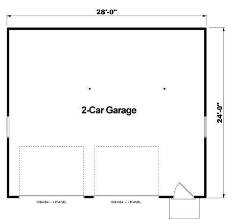 dimensions of a 2 car garage garage plan 6014 at familyhomeplans