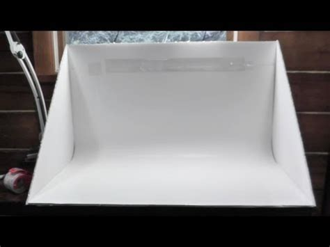 foam board light box how to build a 20 light box youtube