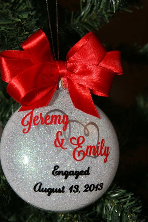 Engagement Ornament Personalized Christmas Tree Ormaments