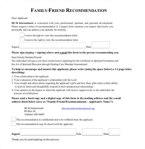letter of recommendation for friend 25 friend recommendation letters pdf doc free
