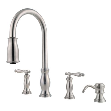 price pfister hanover kitchen faucet price pfister f 531 4tms kitchen faucet stainless steel ebay