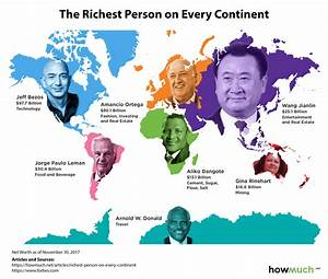 The richest person on every continent [960x816] : MapPorn