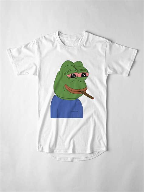 pepe smoking meme  shirt  abusive materia redbubble