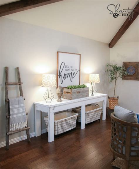 farmhouse console table shanty  chic