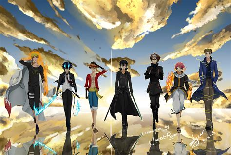 Anime Crossover Wallpaper Hd - crossover hd wallpaper background image 1920x1295 id
