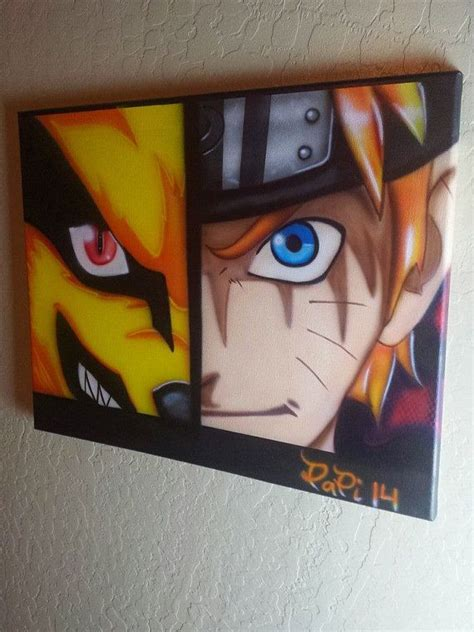 naruto canvas  airbrushed