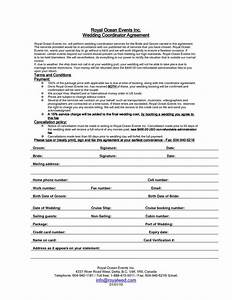 housekeeping contract template wedding planner contract sample templates life hacks