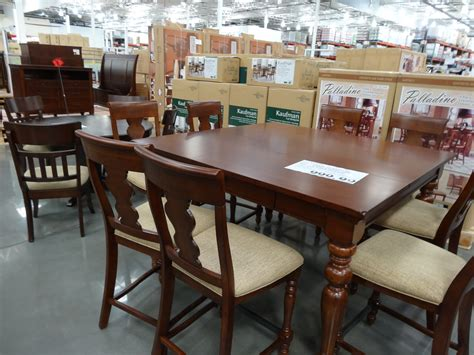 costco dining table in store january is furniture month at costco
