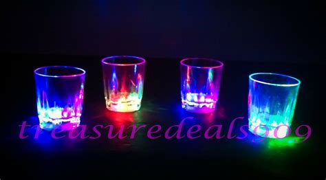 Led Light Up Drink Shot Glasses 6 Pcs Acrylic Cup Barware