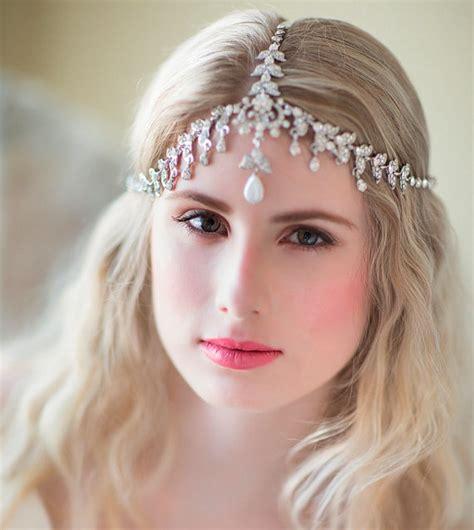 Boho Bridal Headband Rhinestone Headband by PowderBlueBijoux