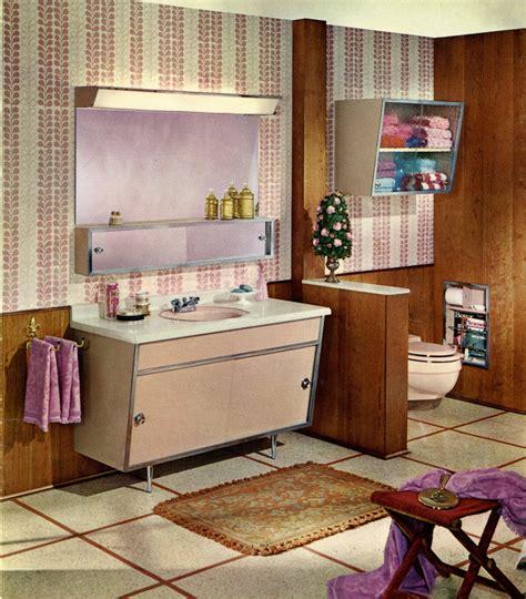 Satin Glide Steel Bathroom Vanities, 1963  Retro Renovation