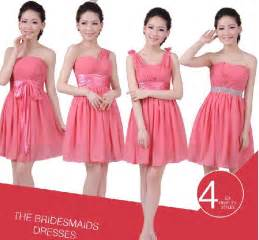 cheap coral bridesmaid dresses aliexpress buy coral bridesmaid dresses chiffon 4 mixed style cheap bridesmaids