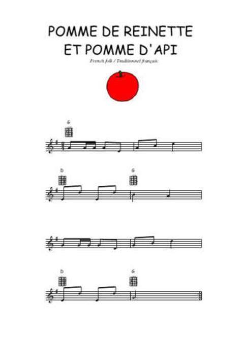 pomme de reinette et pomme d api tapis tapis partition guitare pomme de reinette
