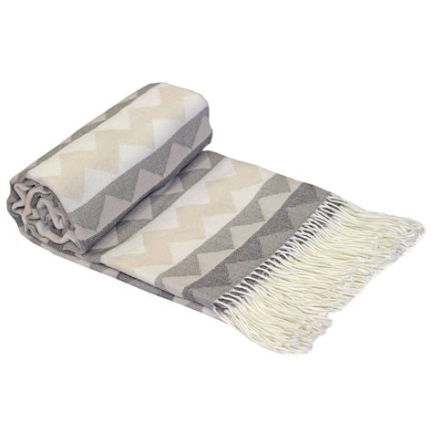 throwovers for settees just contempo single aztec tribal woven fringe throw