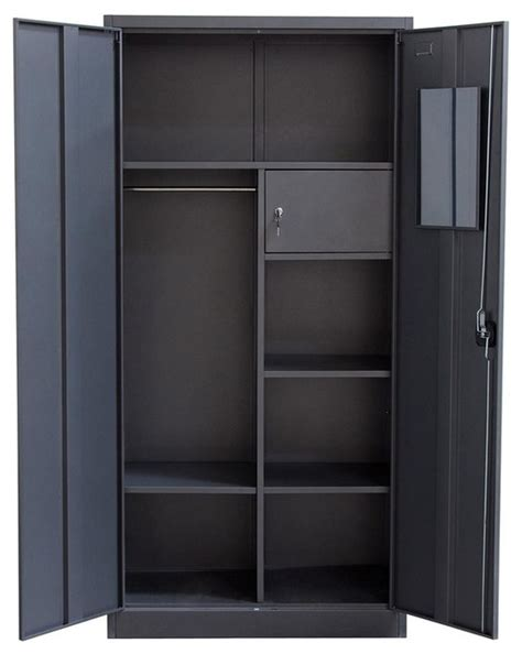 2 door metal closet contemporary armoires and wardrobes by shopladder