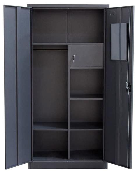 2 Door Metal Closet  Contemporary  Dressers  By Shopladder