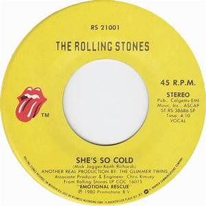 45cat - The Rolling Stones - She's So Cold / Send It To Me ...