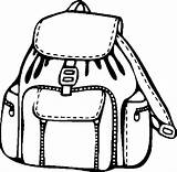 Backpack Coloring Pages Models Template Paper Button Through Tocolor sketch template