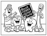 Dental Coloring Pages Teeth Sheets Preschool Printable Week Dentist Office Draw Contest Dentists Care Themed Children Popular Forkids sketch template