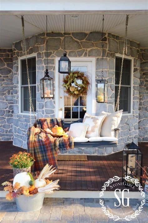 cozy fall porches  farmhouse style making