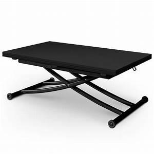 Table Basse Transformable En Table Haute : table basse relevable philadelphia noir carbone ~ Teatrodelosmanantiales.com Idées de Décoration