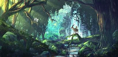 Anime Ghibli Princess Studio Mononoke Fantasy Forest