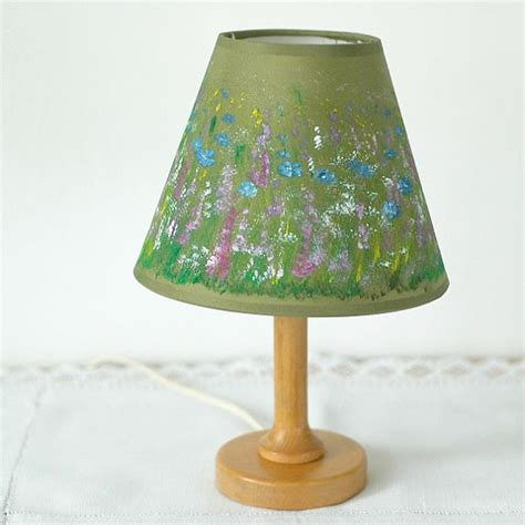 hand painted l shades hand painted l shade with wild flowers