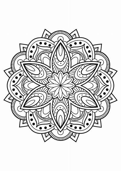 Mandala Mandalas Coloring Pages Adults Books Printable