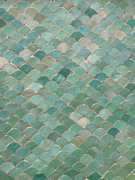 aqua tiles in marrakech morocco scales ceramics